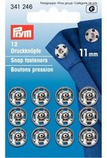 Prym Prym - aannaaidrukkers 11mm zilver - 341 246