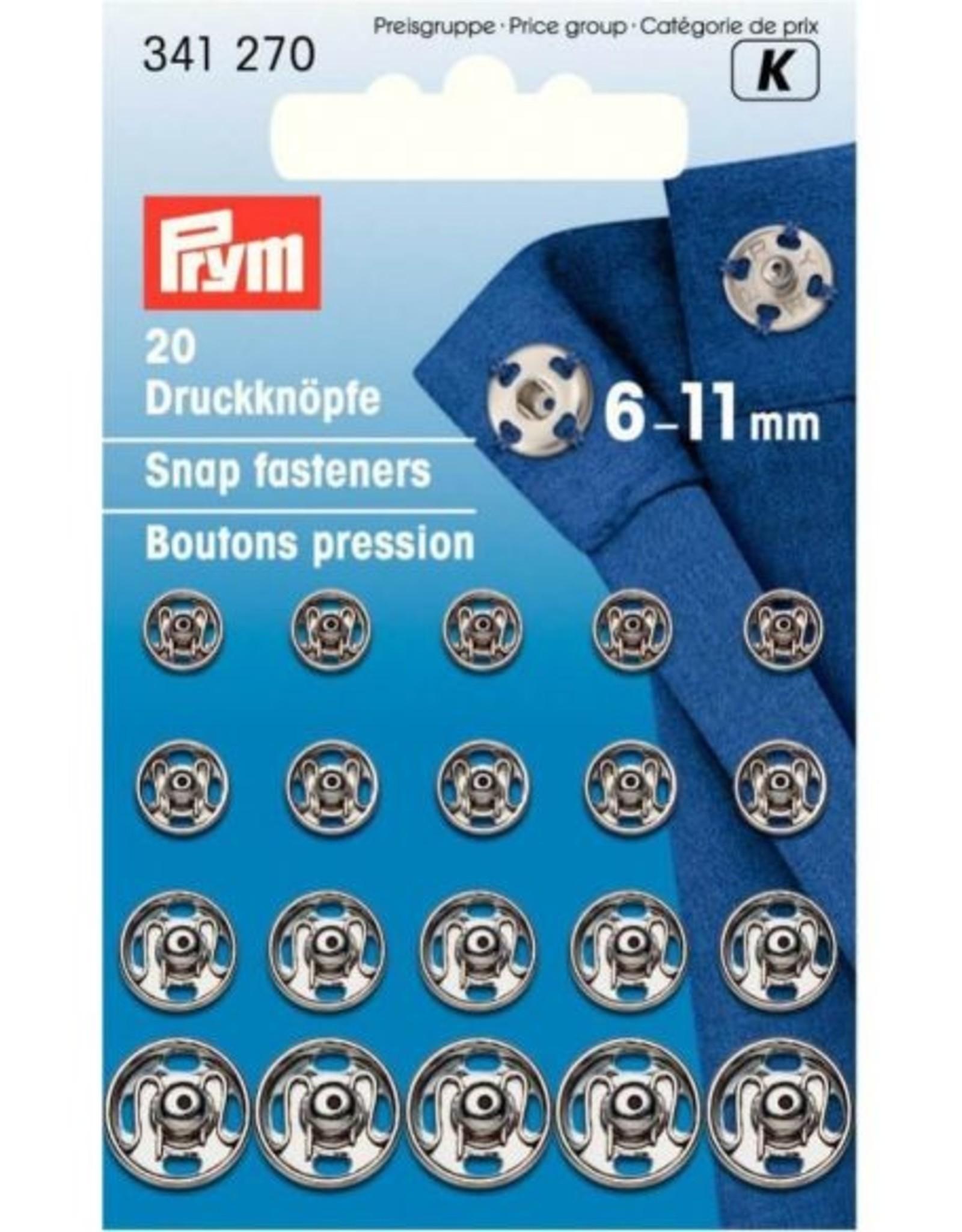 Prym Prym - aannaaidrukker 6-11mm Zilver 341 270