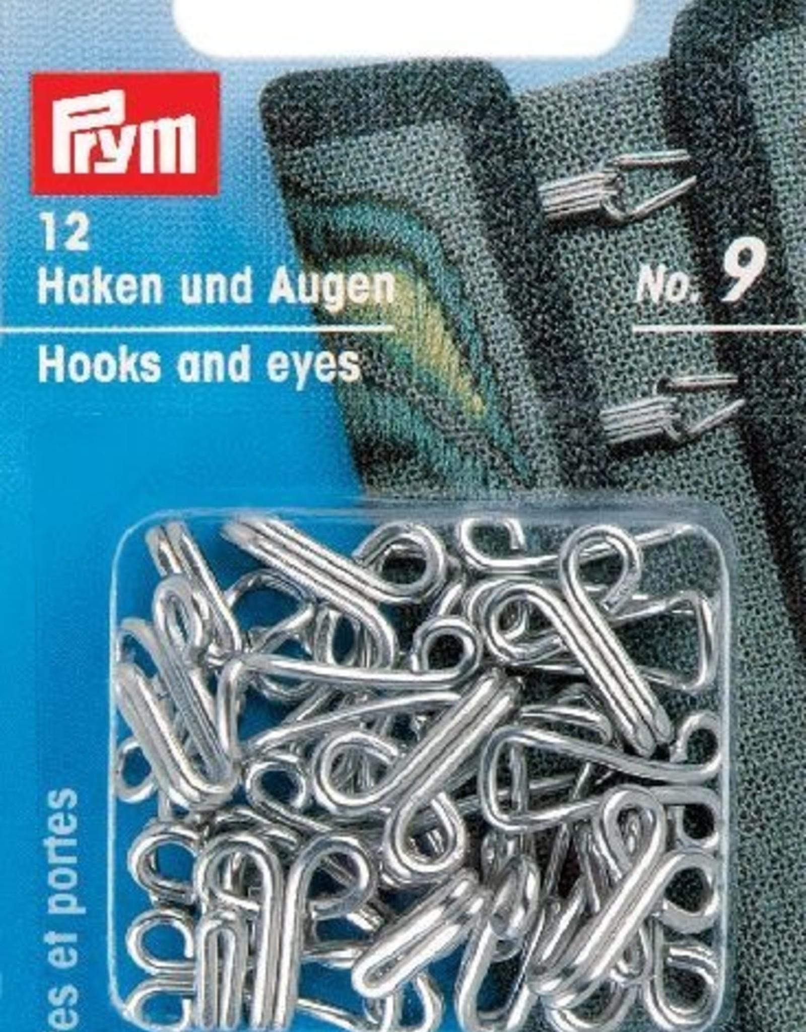 Prym prym - haken en ogen zilver no.9 - 261457