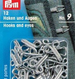 Prym prym - haken en ogen zilver no.9 - 261 457