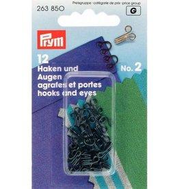 Prym prym - haken en ogen no.2 zwart 263 850
