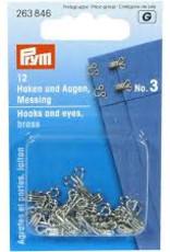 Prym prym - haken en ogen no.2 zilver - 263 845