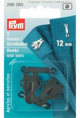 Prym prym - rokhaken zwart 12 mm - 266 260
