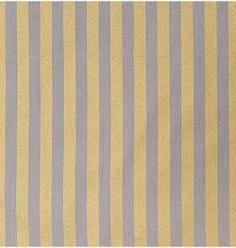 Rico Design Strepen goud/grey