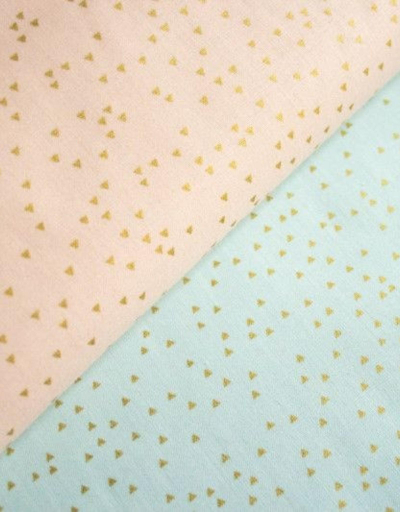 Rico Design Triangles goud/mint
