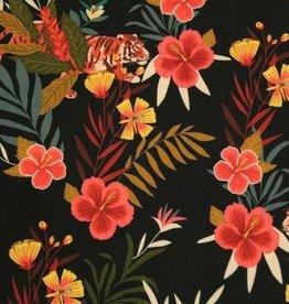 Atelier Jupe Viscose met kleurrijke jungle print - Atelier Jupe