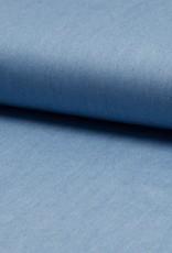 COUPON Tencel chambray lichtblauw (25cm x 140cm)