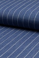 COUPON Chambray denim krijtstreep blauw 105x140cm