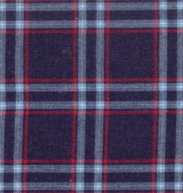 Flannel check geruit blauw/roze