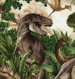 coupon 20x110cm Dino world - Timeless Treasures