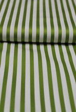 A La Ville Haute Couture Wit/groen gestreept glanzend katoen