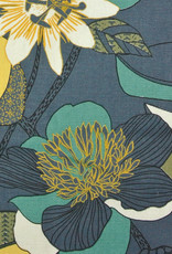 Domotex Echinops grijsblauw half-panama
