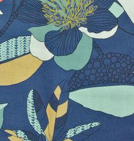 Domotex Echinops jeansblauw half-panama