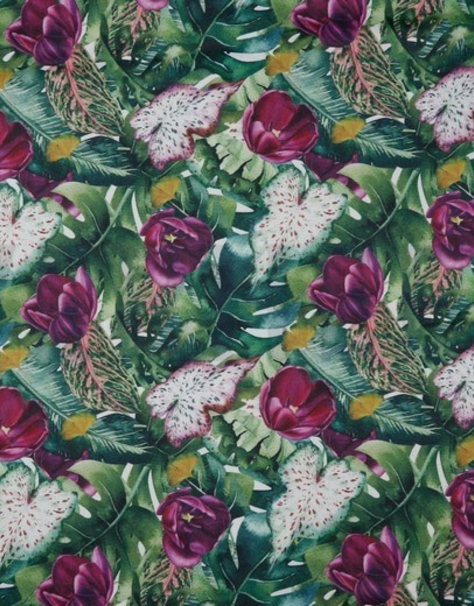 Poppy Canvas flowery digital print