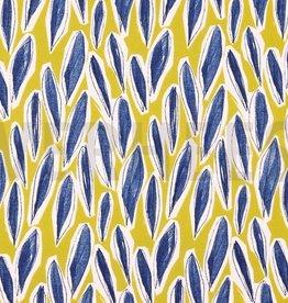Poppy Canvas mustard Leaves