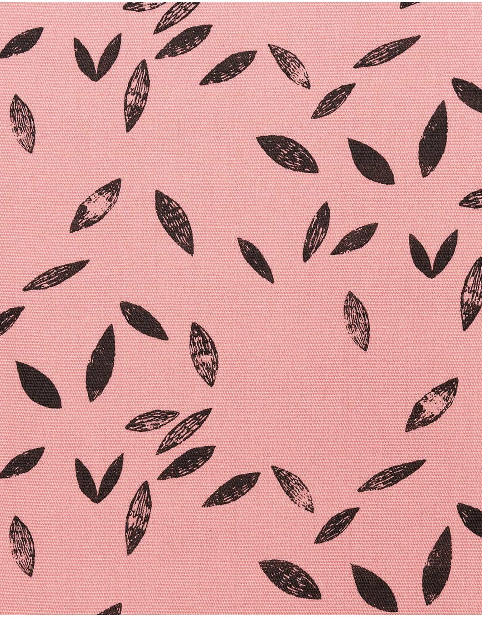 Rico Design Canvas pink leaves rosa