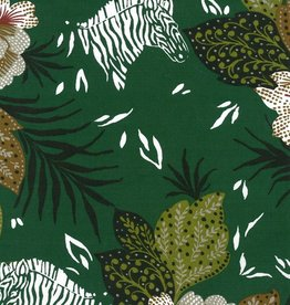 Domotex Zoo dark green half-panama