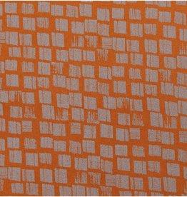 Rico Design Canvas brown squares grey