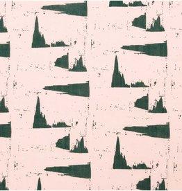 Rico Design Muslin powder green pattern