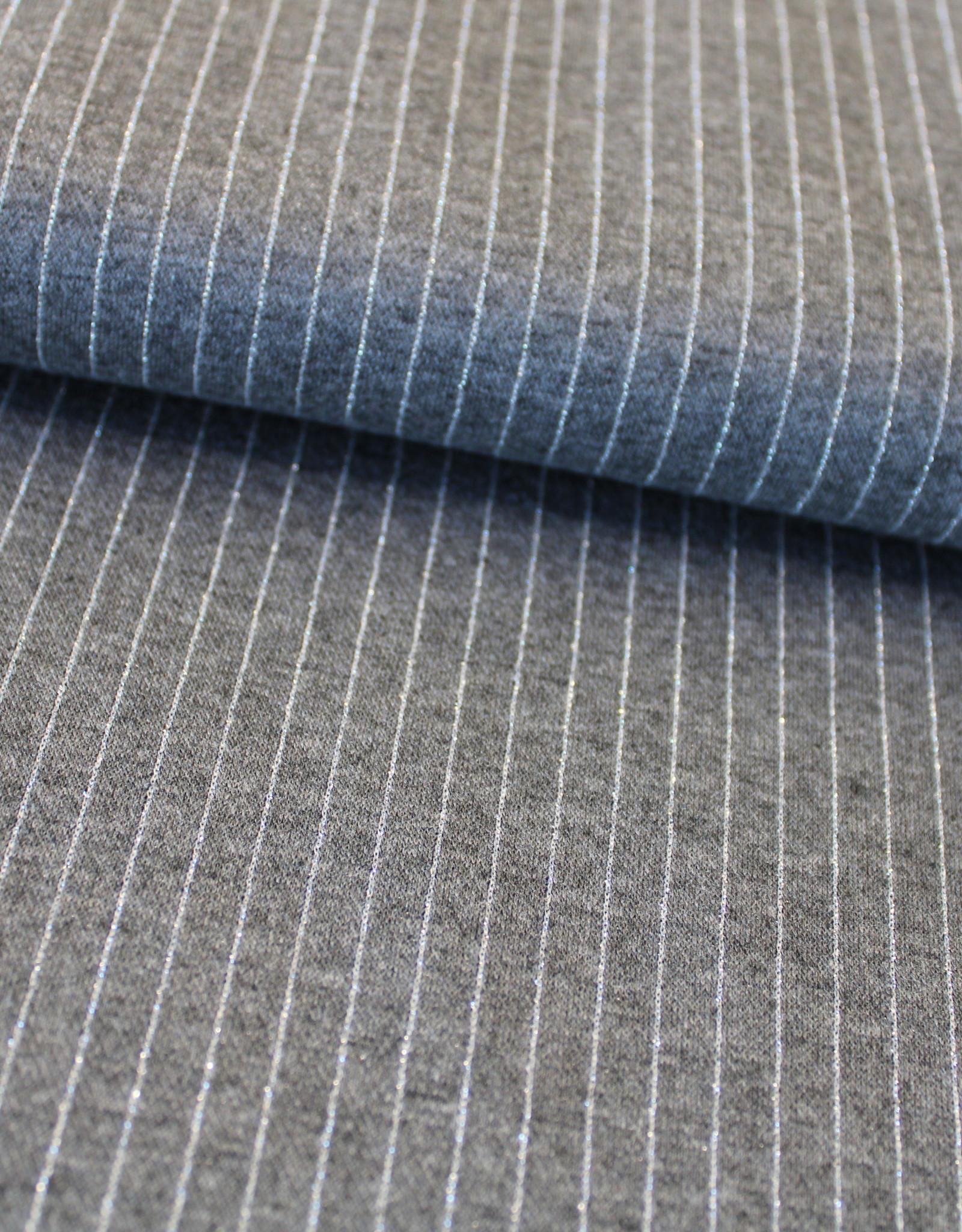 Editex COUPON punta grijs zilveren lijn 40x150cm
