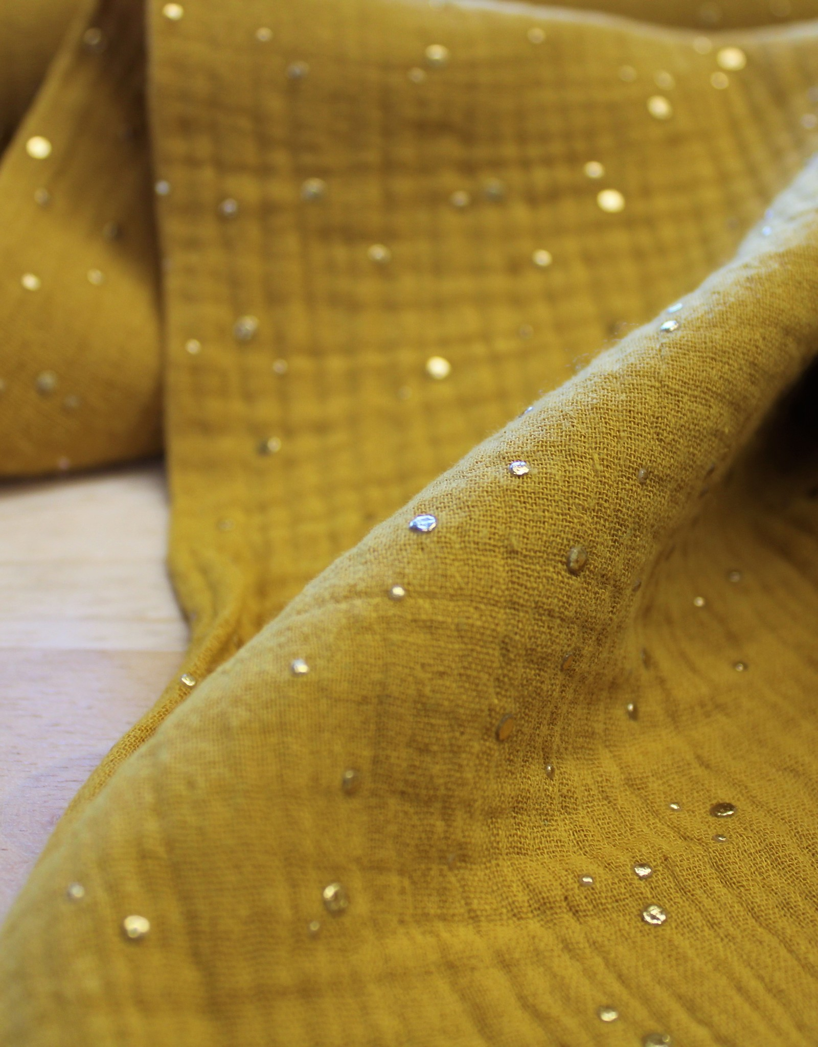Nooteboom double gauze oker gouden stip