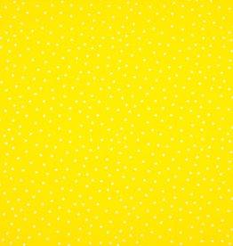 Qjutie COUPON Katoen lovely liberty dot yellow 155x140cm