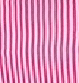 Qjutie Katoen lovely stripe fuchsia