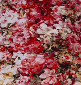 Nooteboom Tricot rode bloemen