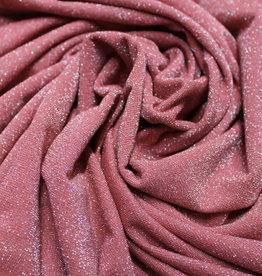A La Ville Haute Couture Lurex glitter rose tricot