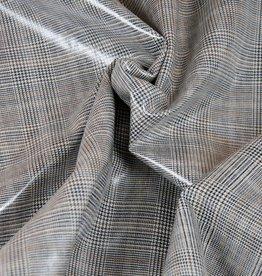 Hilco Glencheck gecoat Sabi beige/zwart/oker