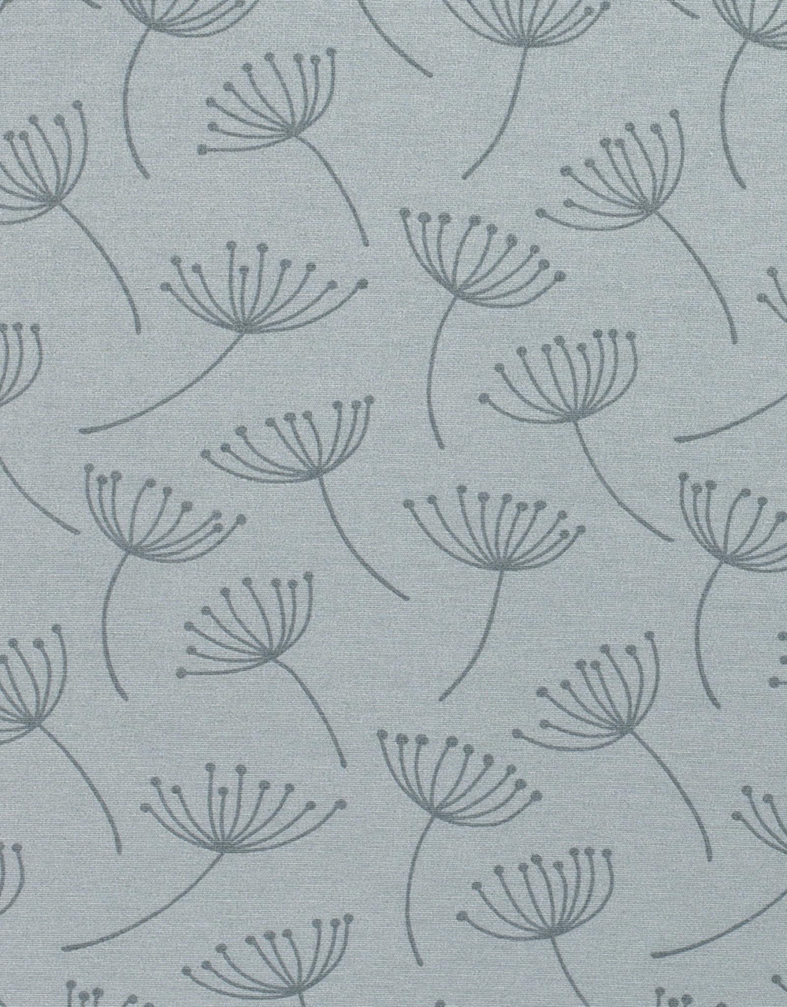 Nooteboom Deco canvas Loneta Flower light mint