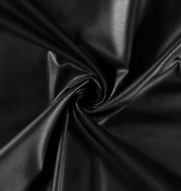 Skai soepel zwart met nerfstructuur