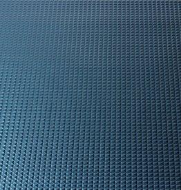 Imitatieleder pyramide blauw 50cm x 140cm