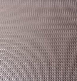Imitatieleder pyramide zilver 50cm x 140cm
