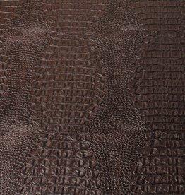 Imitatieleder croco bruin 50cm x 140cm