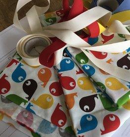 stoffenpakket met elastiek om mondmaskers te maken