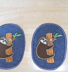 Union Knopf applicatie kniepatch jeans luiaard (per 2)