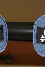 Union Knopf applicatie kniepatch jeans doodskop (per 2)