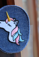Union Knopf applicatie kniepatch jeans unicorn (per 2)