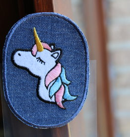 Union Knopf applicatie kniepatch jeans unicorn (per 2)