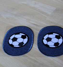 Union Knopf applicatie kniepatch jeans voetbal (per 2)