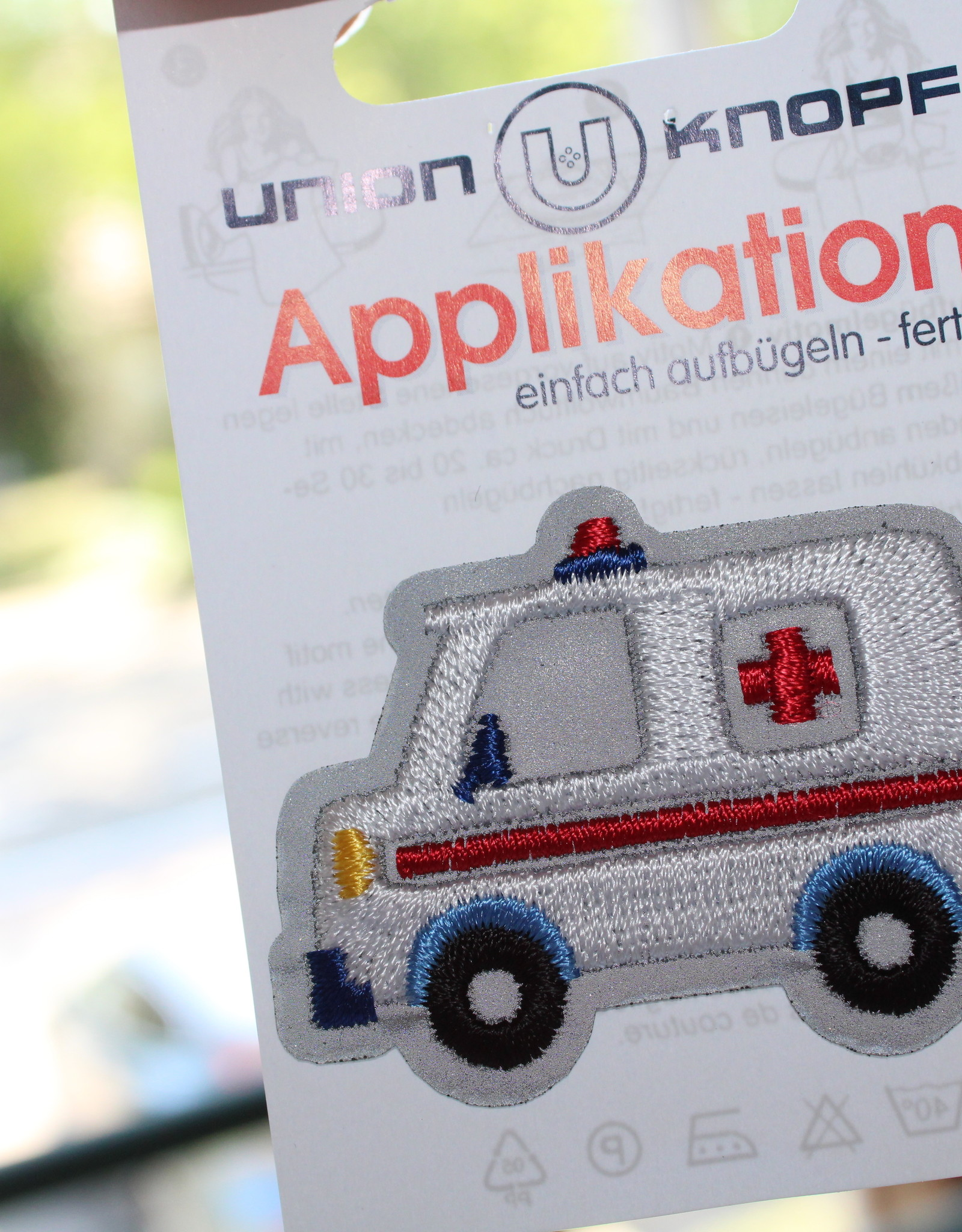 Union Knopf applicatie ziekenwagen