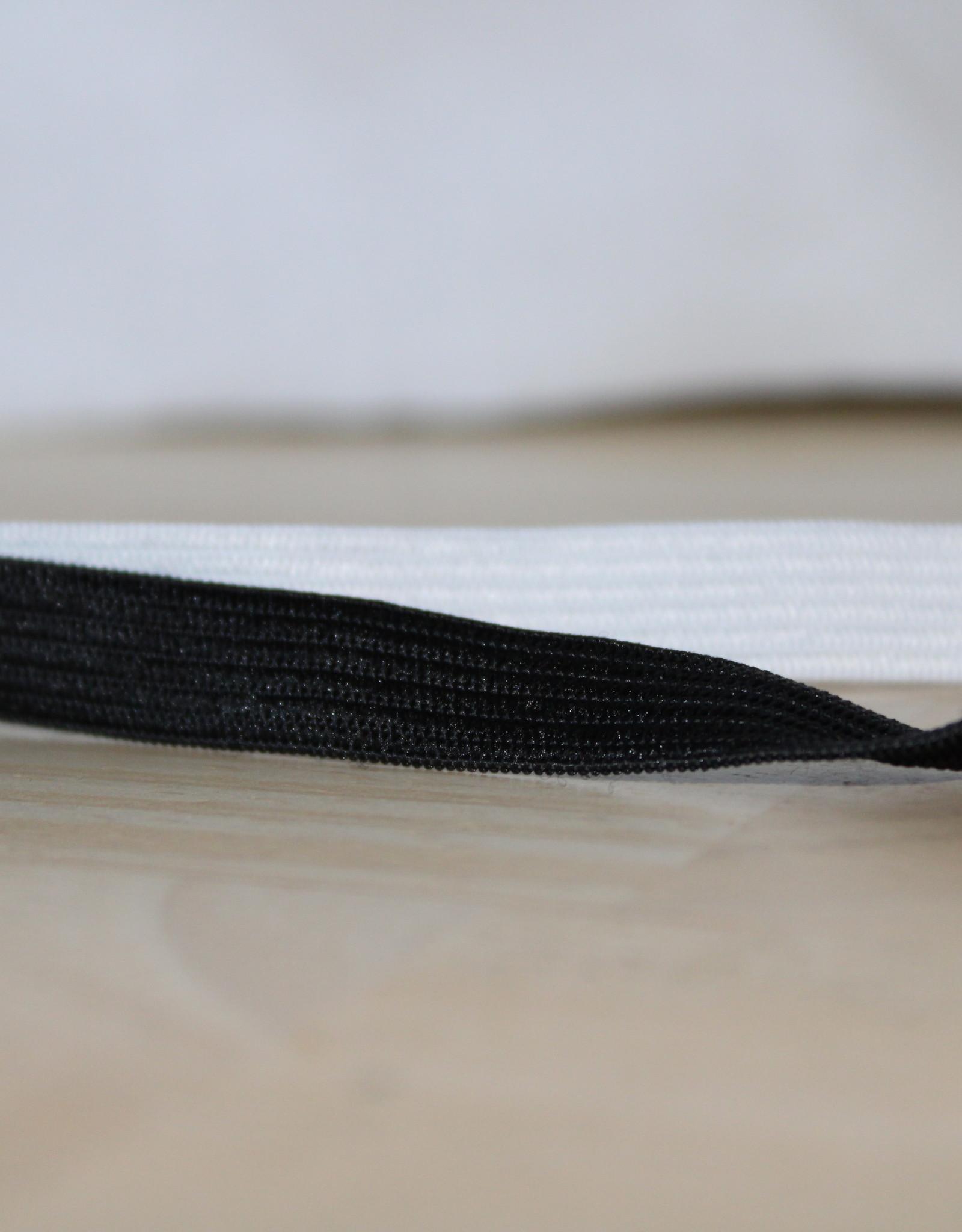 Soepele elastiek 1cm wit