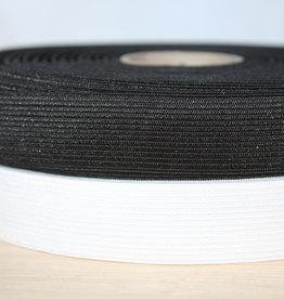 Soepele elastiek 2,5cm wit