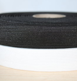 Soepele elastiek 2,5cm zwart
