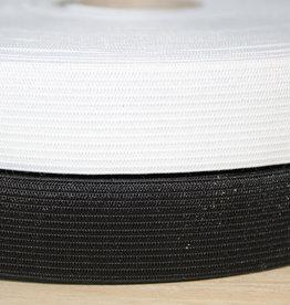 Soepele elastiek 4cm wit