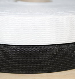 Soepele elastiek 5cm zwart