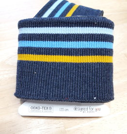 Poppy designed for you Cuff donkergrijs/oker/blauw/lichtblauw - Poppy