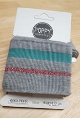 Poppy designed for you Cuff grijs/glitterroze/mintgroen - Poppy