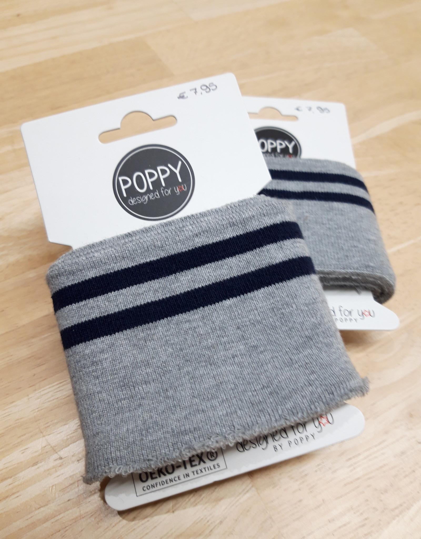 Poppy designed for you Cuff grijs/navy - Poppy